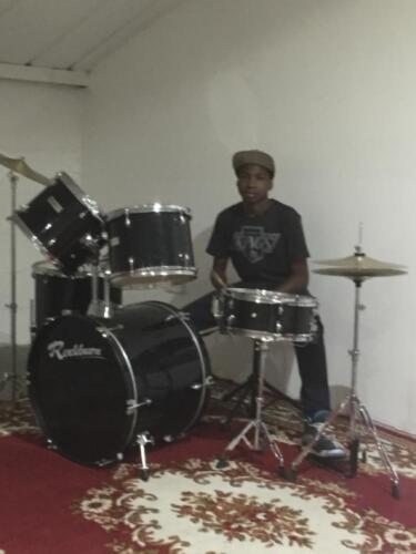 Young Church drummer